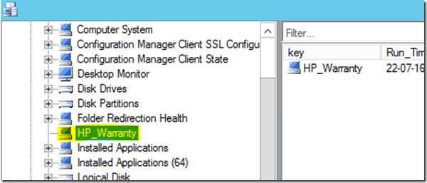 Add HP warranty info to SCCM